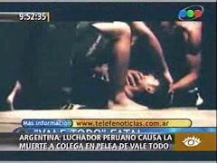 Luchador peruano mata a argentino en entrenamiento de Vale Todo
