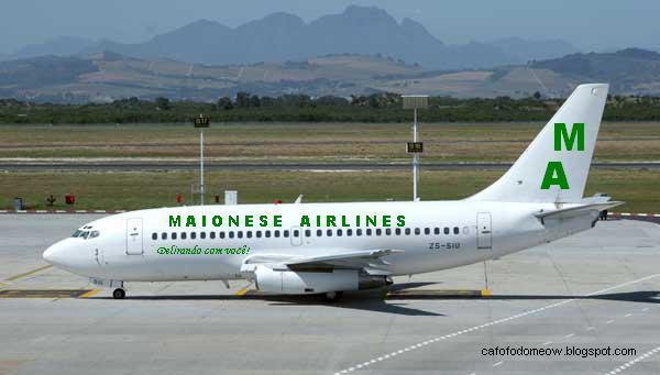 Tela diferente... Maionese-airlines