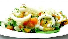 Salada de Lulas ao Vinagret