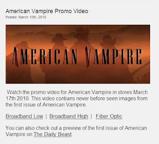 American Vampire promo video
