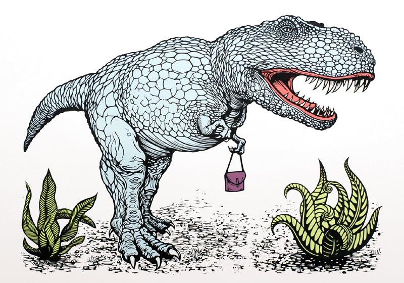 New Linocut Dinosaur Print LinocutBoy