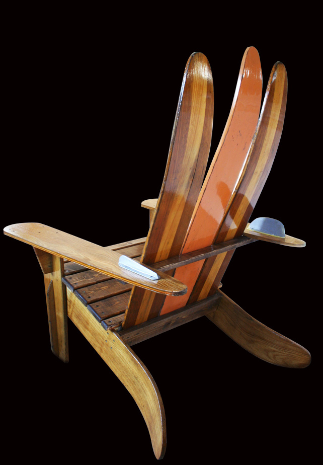 how to build an adirondack chair with skis