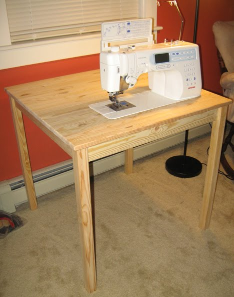 diy sewing machine table plans