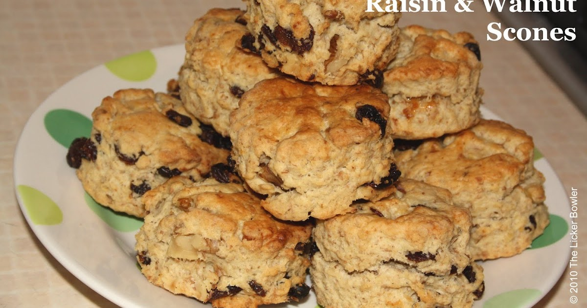 Raisin & Walnut Scones... - The Licker Bowler...