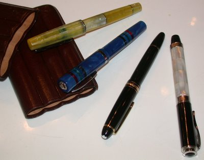 A Stipula, a Monteverde, a Montblanc and a Libelle walk into a bar...