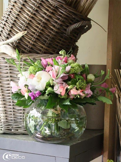 Report of homestyle magazine e-magDECO «Autres...», florist in Montpellier