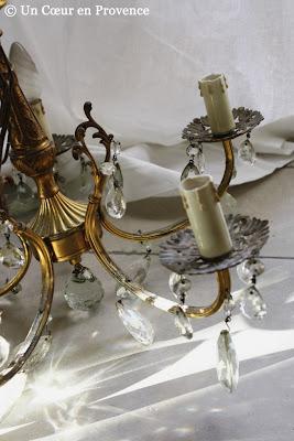 Glistening chandelier pendants
