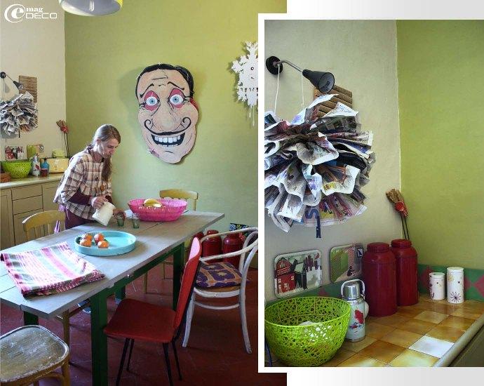 Myriam dans sa cuisine