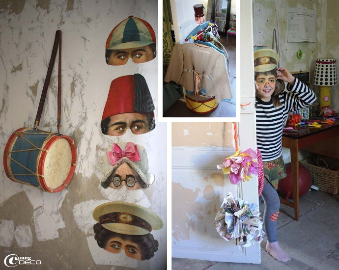 Collection de masques en carton