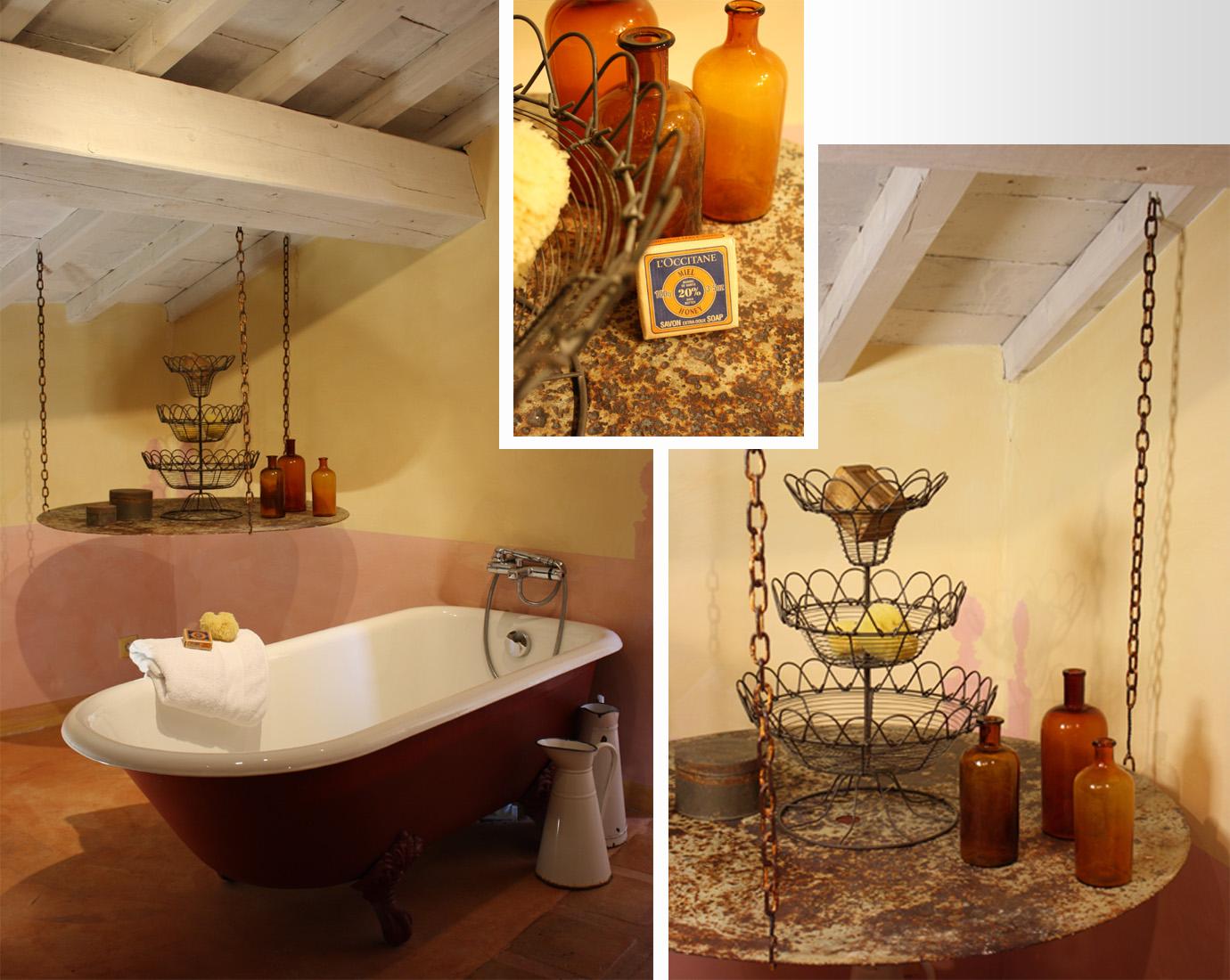 Salle de bain, chambre Cuzco, La Maison de Blauzac