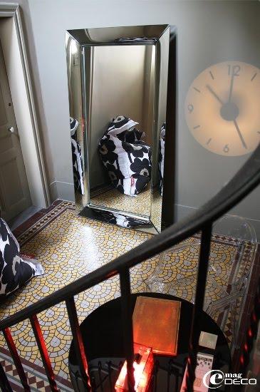 Hall d'entrée de la maison d'hôtes Les 4 étoiles