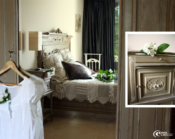 Chambre au style rocaille