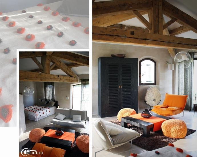 La Suite Atelier de la maison d'hôtes Le Mas de Cink
