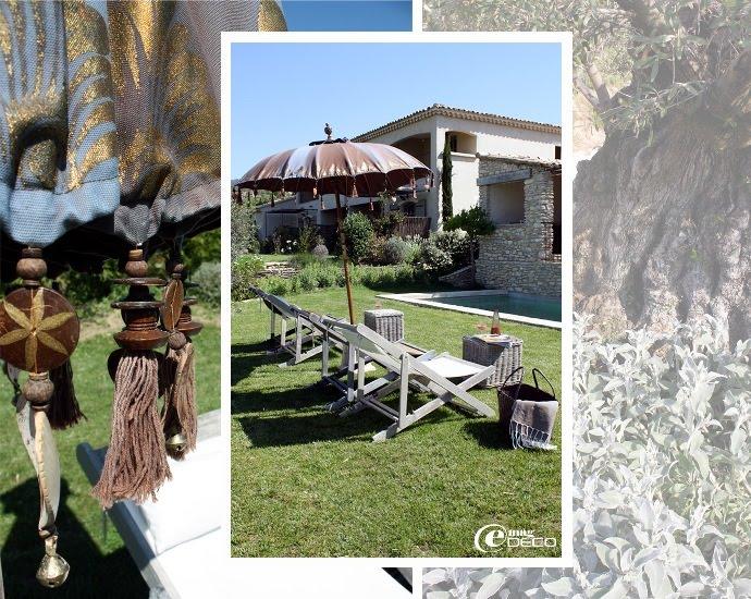 La maison d'hôtes Le Mas de Cink et les abords de la piscine
