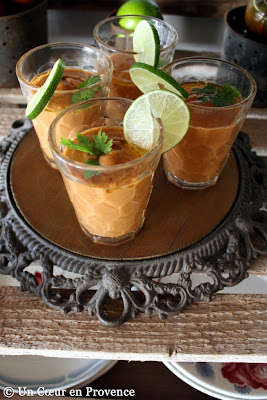 Gazpacho with cilantro