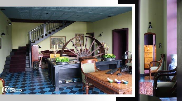 La réception de l'Hôtel Ville d'Hiver à Arcachon