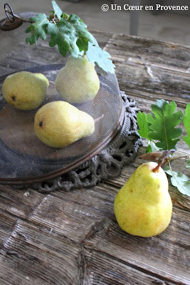Pears under a bell wire