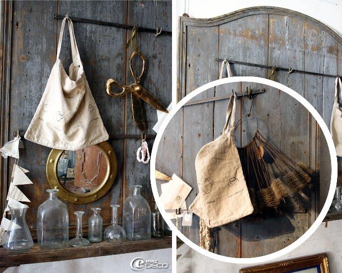 Sur un ancien porte casseroles, des créations Astier de Villatte présentés à la Galerie Salon