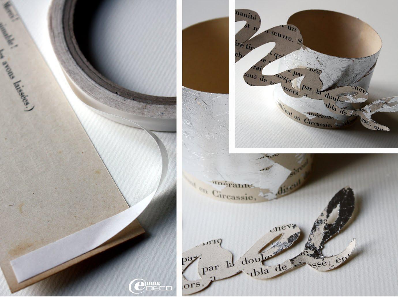 Étapes de création d'un rond de serviette en carton décoré