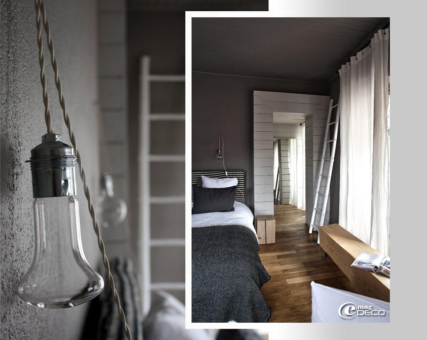 Luminaire SCE et tête de lit Caravane