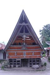 Rumah adat Batak di Samosir