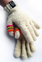 guantes bordados tonos blanco