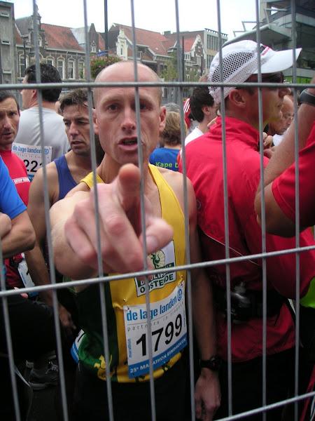 2008. Net voor de start van Eindhoven 42km ,-3uur gesloopt