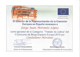 Mejor Blog sobre el Tratado de Lisboa 2010