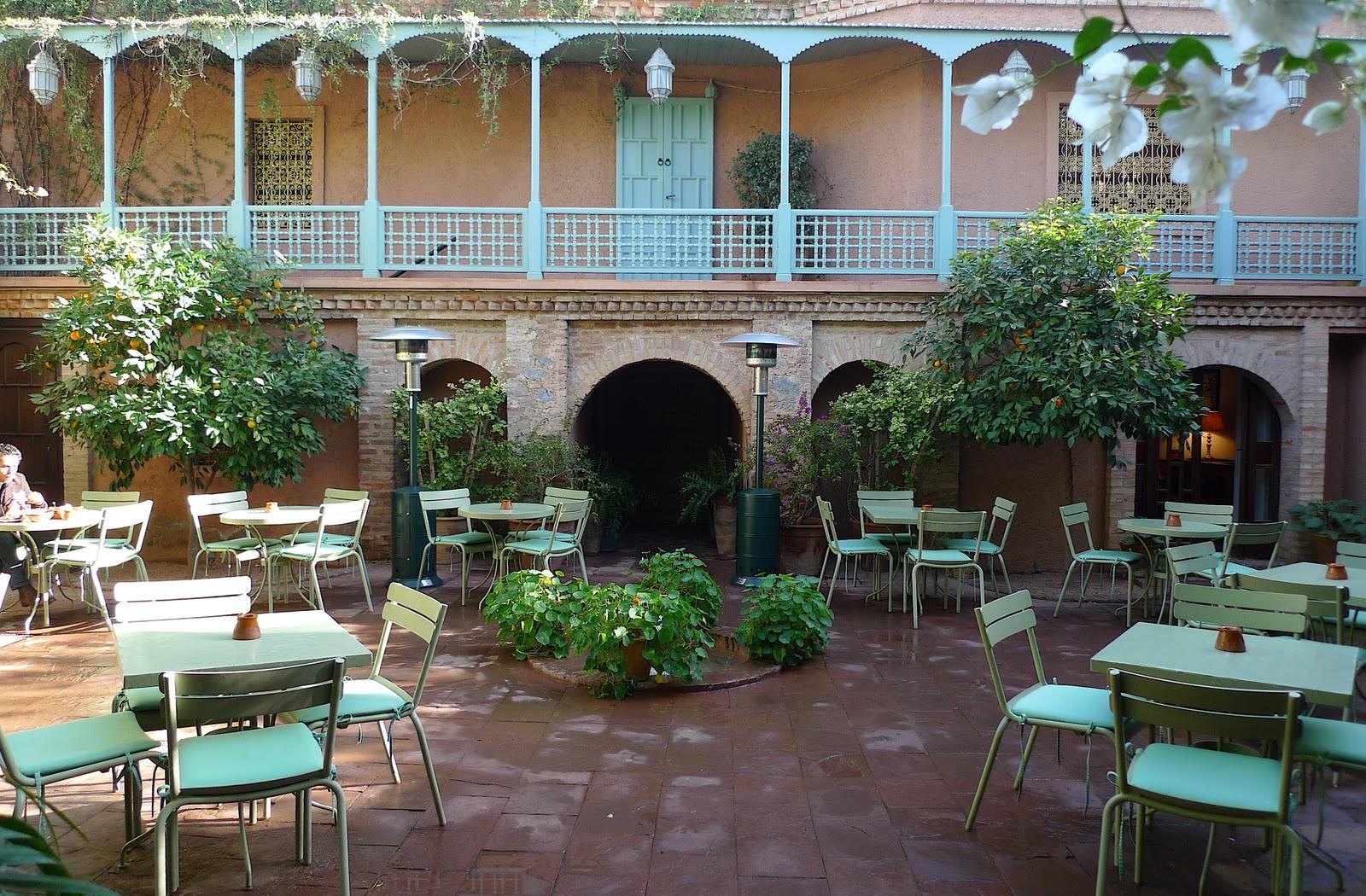 Jeffrey bale 39 s world of gardens jardin majorelle for Restaurant jardin marrakech