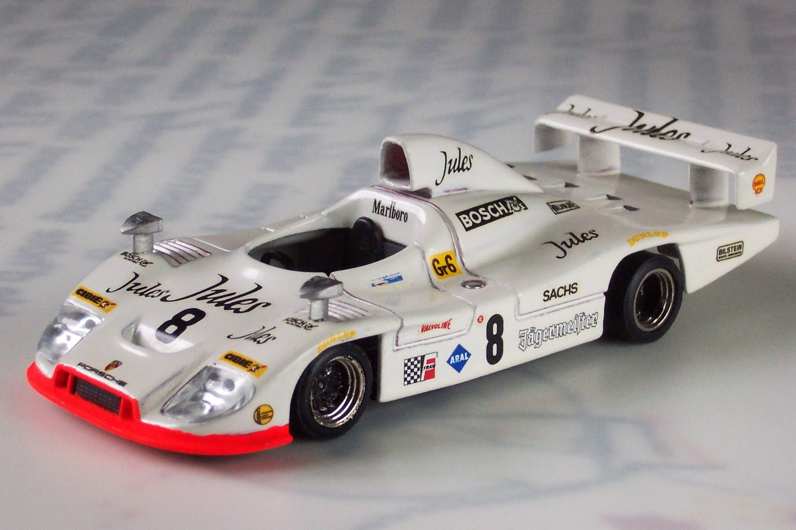 the XJR-11 powered by Rover's V64V 3.5litre V6 originally designed for