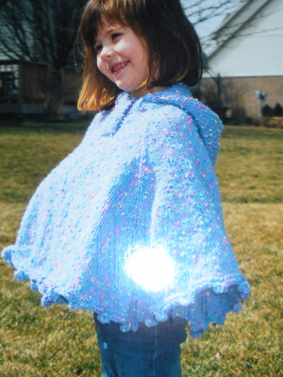 Childrens Knitting Patterns : Warm Thoughts: Childs Hooded Poncho