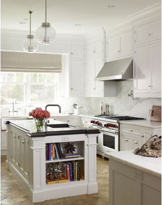 Or Maybe We Could Switch It Up And Do A Dark Work Island And Keep The White  Countertops?