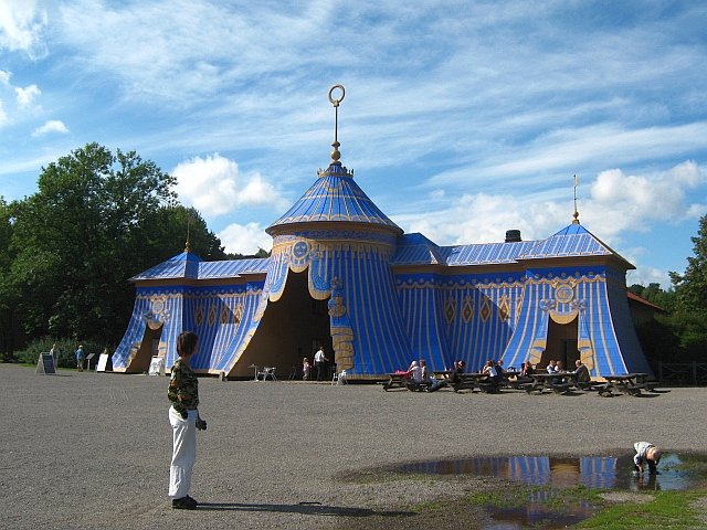 roman battle tent in stockholm park