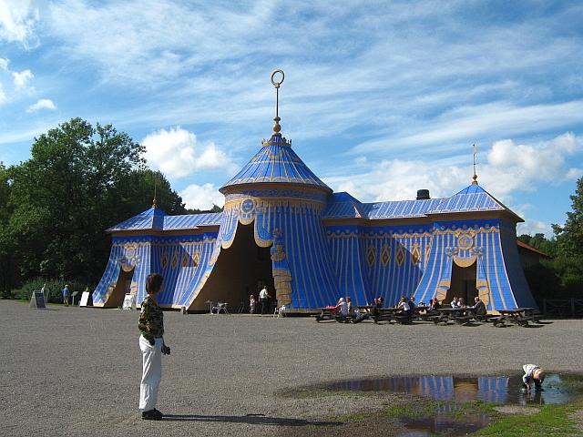 roman battle tent in stockholm park