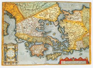 Old maps expeditions and explorations the ancient greek world this map portrays ancient greece with its independent city satates and kingdoms and their provinces extending from the balkan peninsula through gumiabroncs