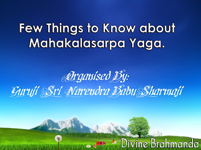 Answers to FAQ's on MahaKalaSarpa Yaga by Guruji Sri Narendra Babu Sharma