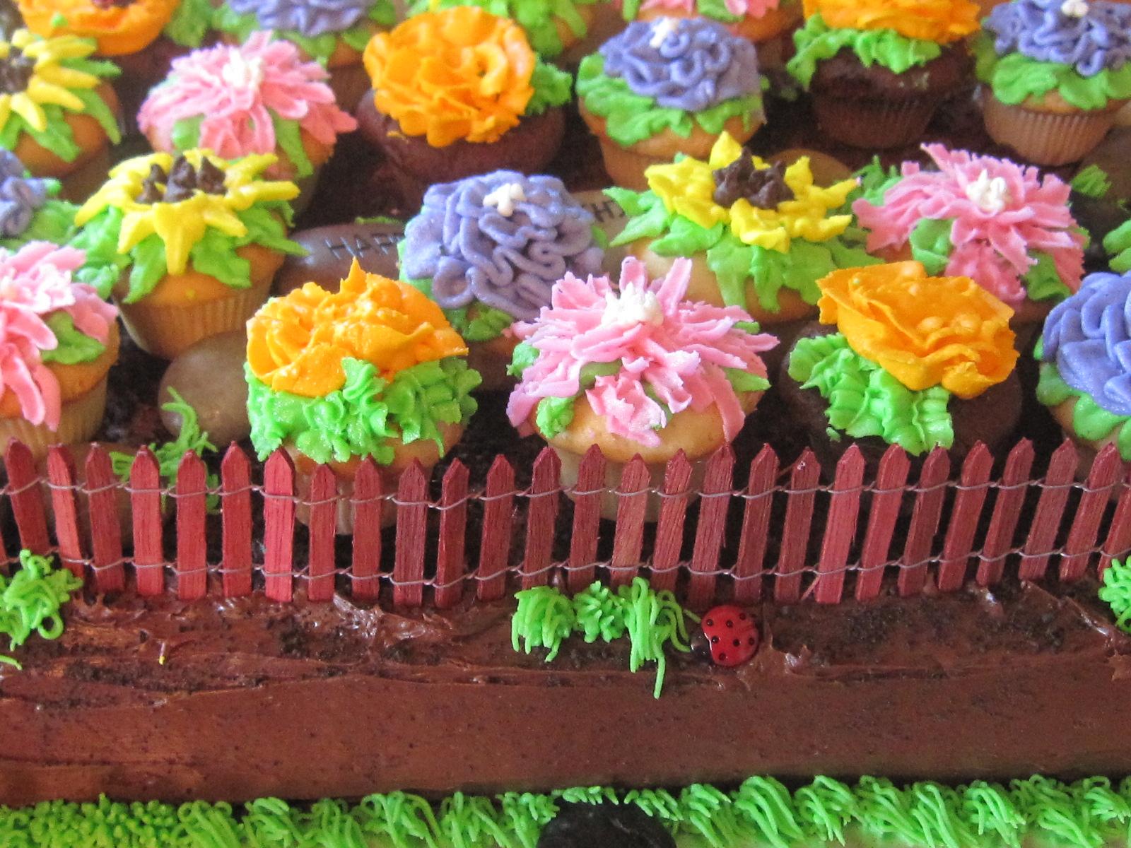 Loads of Luv From...: Flower Garden Birthday Cake