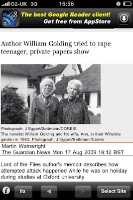 Because You Touch William Golding At Night