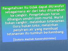 DOKTRIN MAZHAB KONSTRUKTIVISME