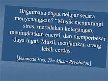 MENURUT JEANNETTE VOS, THE MUSIC REVULUTION