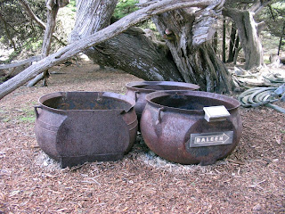 Pots used to extract blubber