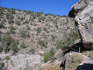 Steep slopes of Walnut Canyon