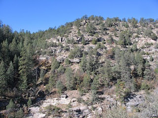 Walnut Canyon slopes where native americans lived