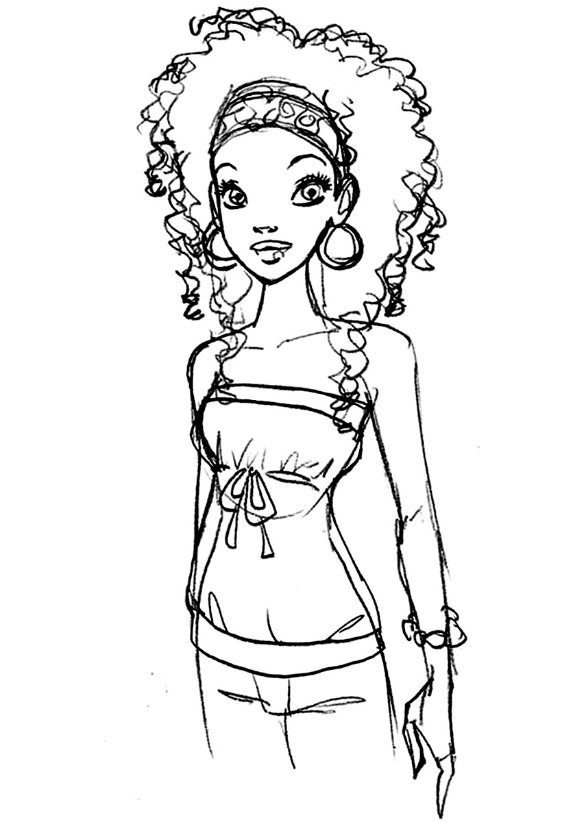 Africa Coloring Page