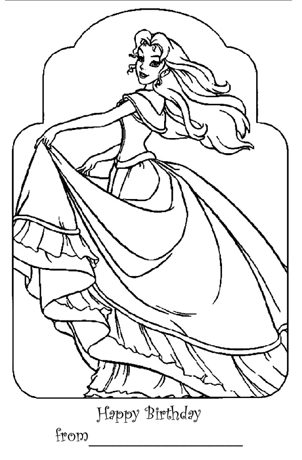 barbie princess coloring pages for kids. BARBIE PRINCESS COLORING PAGE