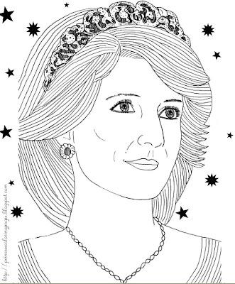 Prinzessinnen-Malvorlagen – Kostenlose Ausmalbilder für eine kleine ...
