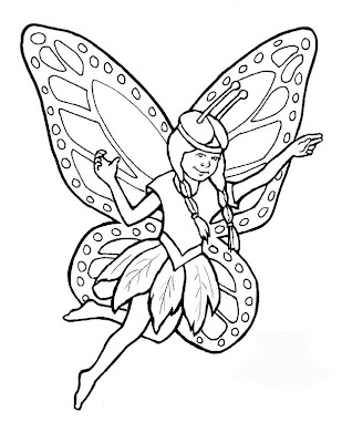 Coloring Pages Online on Fairy Coloring Pages 8   Kids Coloring Pages Online