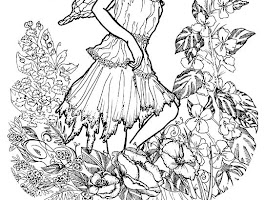 Barbie Queen Fairy Coloring Pages