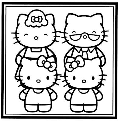 here is hello kitty dressed as a ballerina for you to color in with your crayons above it is a picture to color of hello kitty with her grandparents - Kitty Ballet Coloring Pages