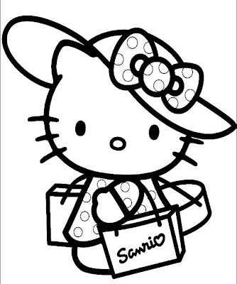 coloring pages hello kitty friends